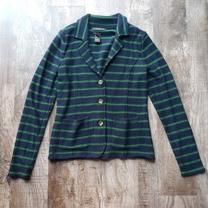 Tahari Merino Wool Blend Collared Cardigan